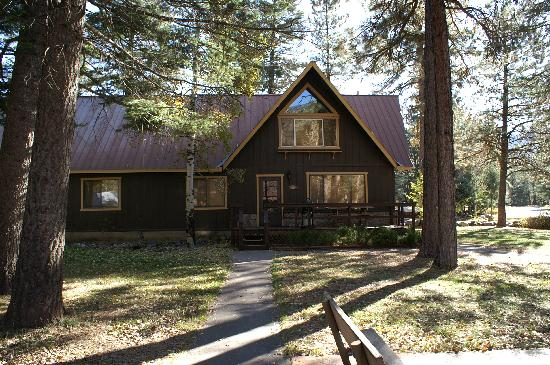 Blue Spruce RV Park & Cabins: front of Lodge building; apt is the entire upper floor