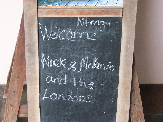 Ntengu Lodge: Our welcome message