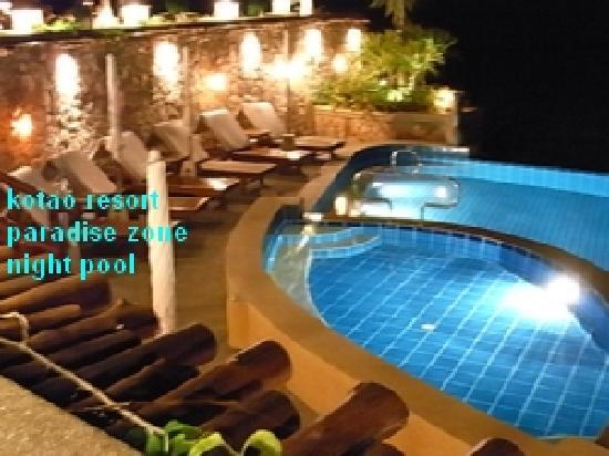 Ko Tao Resort: night pool
