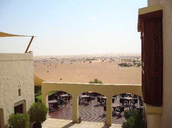 Al Maha, A Luxury Collection Desert Resort & Spa: View over the main dining deck & beyond