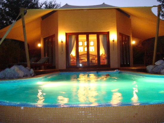 Al Maha, A Luxury Collection Desert Resort & Spa: Our villa at dusk