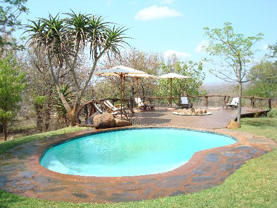 White Elephant Safari Lodge: The pool deck