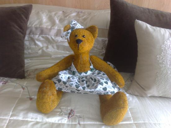 Harefield Cottage: teddy bear!!