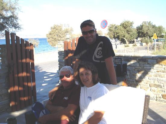 Agios Prokopios, กรีซ: Friendly staff (Antonios and his parents)