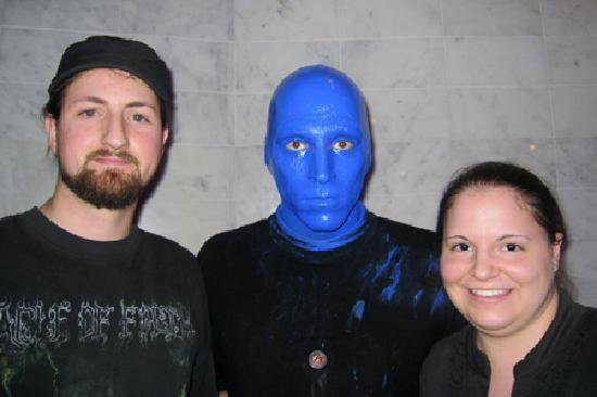 Blue Man Group: My husband and I with a Blue Man