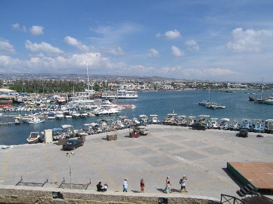 Apollonia Holiday Apartments: view of harbour from the fort