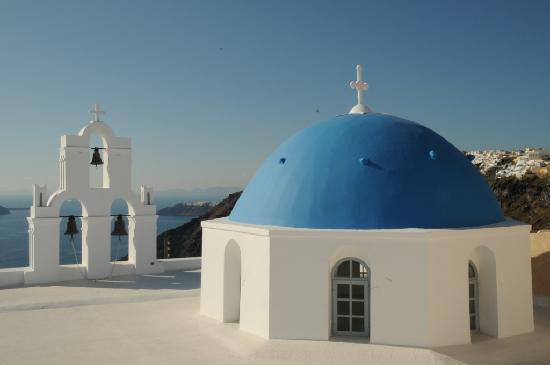Gaby Apartments: Greek Orthodox church (view taken from Apartments Gaby)