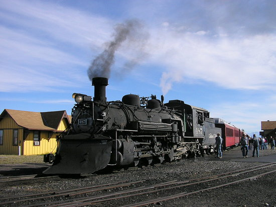 Antonito, CO : getting up steam!