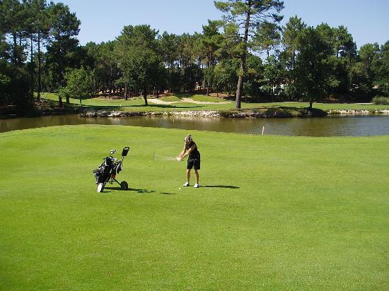 Golf-Hotel Blue Green de Seignosse: Arrivée du trou #17