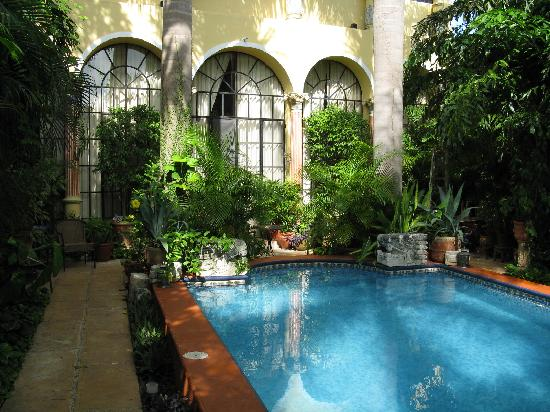 Los Arcos Bed & Breakfast: Pool and back of main house
