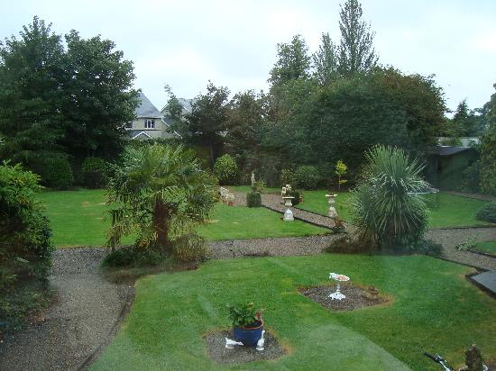 Barrowville Town House: a view of Anna's gardens from the conservatory breakfast room
