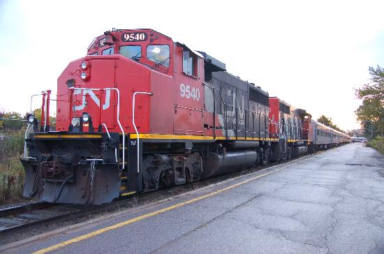Sault Ste. Marie, Canada: The train preparing to depart on October 3 2008
