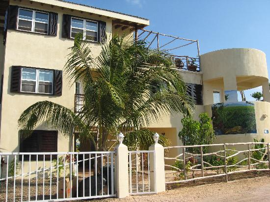 Front view of Three Iguanas Villa