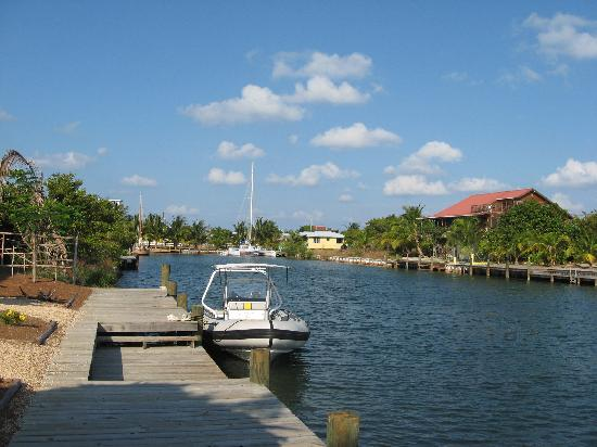 The dock at Three Iguanas Villa