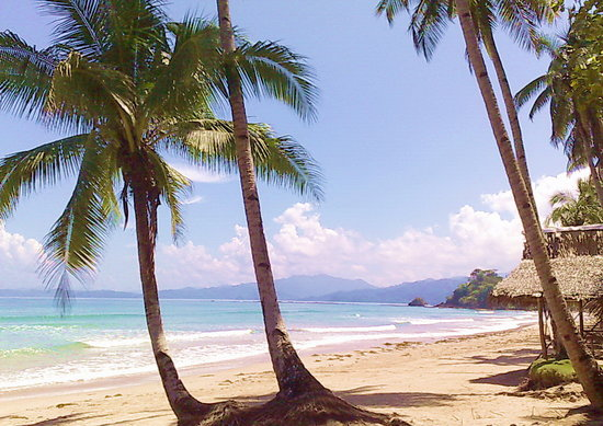 Shows Sabang Beach in Palawan