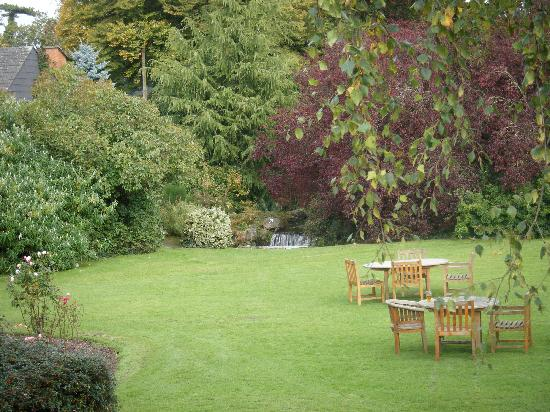 Boyne Valley Hotel & Country Club: view of part of the gardens from the bar