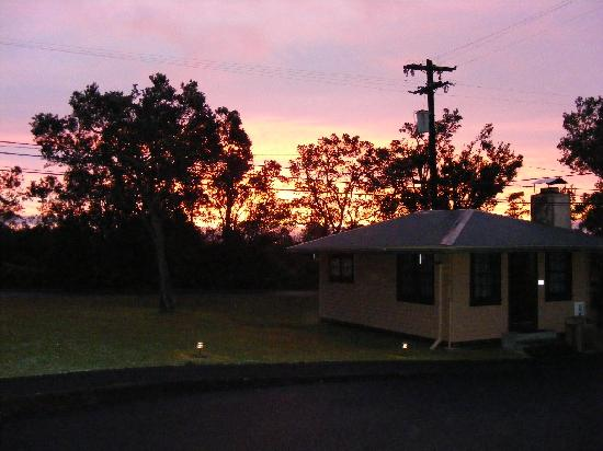 Kilauea Volcano Military Camp: Sunrise at KMC