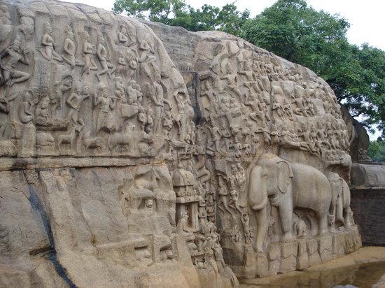 Mahabalipuram, Indien: Mamallapuram - Arjuna's penance
