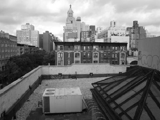 Jazz on the Town Hostel: vue du toit le matin