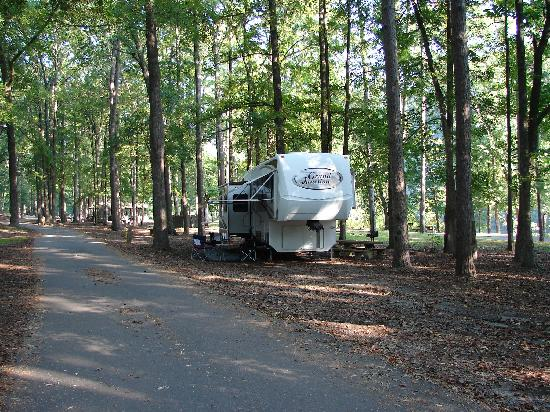 Buckeye campground picture of broken bow mccurtain for Camping cabins in oklahoma