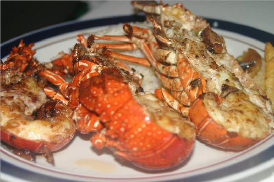 Marina Ixtapa Golf Club: Lobster Tail with garlic Mmmmmm