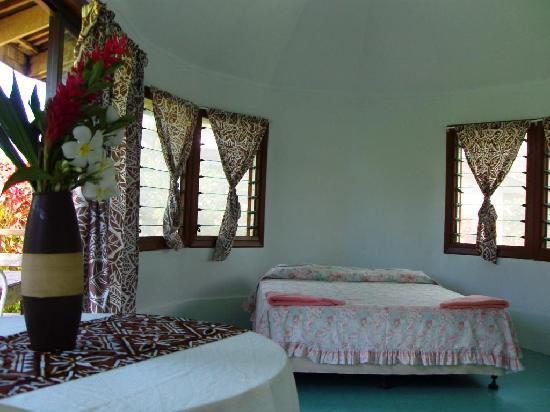 The Savaiian Hotel: inside fales