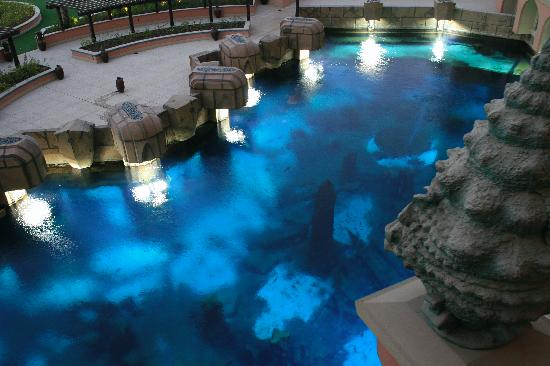 Atlantis, The Palm: View from our room over the aquarium