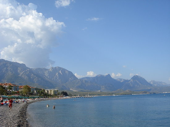 ‪كيمر, تركيا: Kemer beach, 23 October 2008‬
