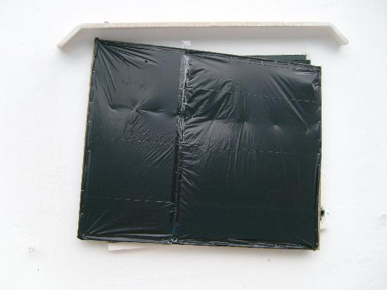 Club Cala D`Or Park Apartments : Typicall window, black plastic over it