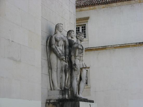 Coimbra, Portugal: Some of many sculptures