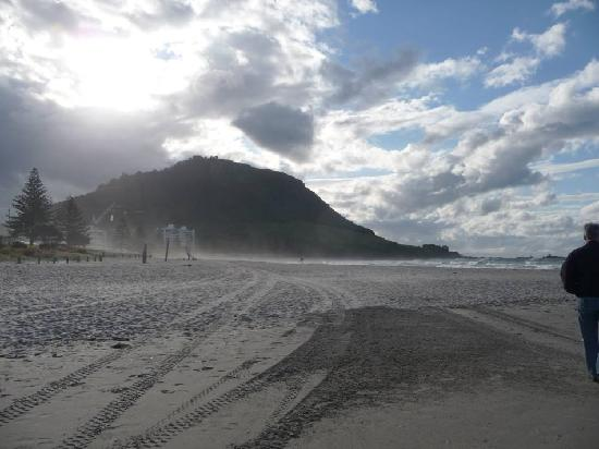 "Boatshed Motel Apartments Mt. Maunganui: ""The Mount"" from the beach"