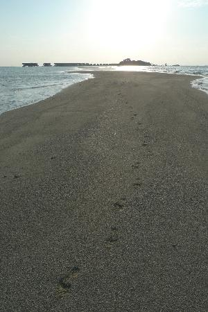 COMO Cocoa Island: footsteps on the spit