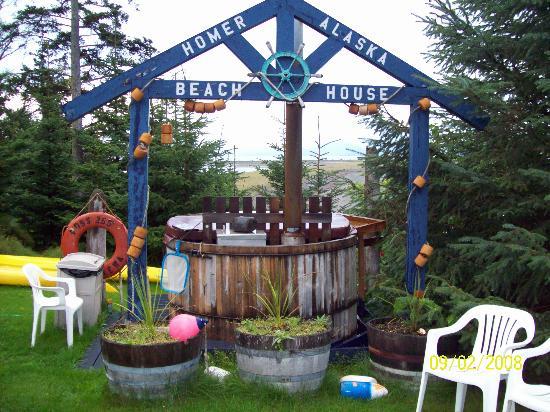 The Alaska Beach House: Wood fired hot tub