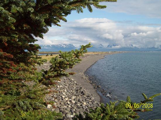 The Alaska Beach House: View from Living Room window of Homer Spit