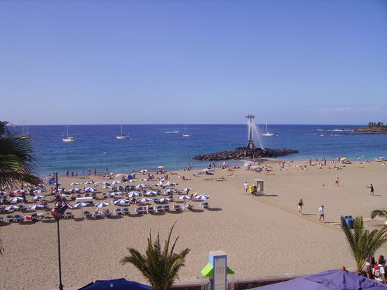Los Cristianos, Spain: view from terrace