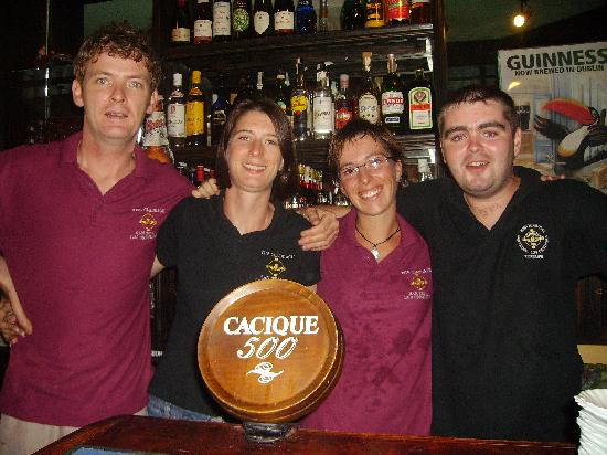 Los Cristianos, Spain: claddagh bar staff