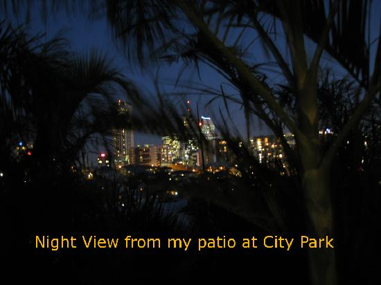 City Park Apartments: The awesome view at night from my balcony