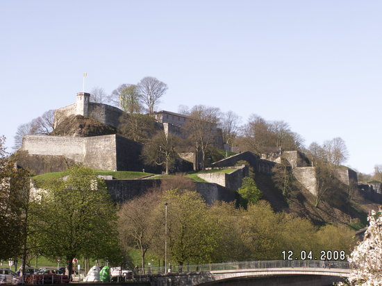 Namur, Belgien: The citadel from town