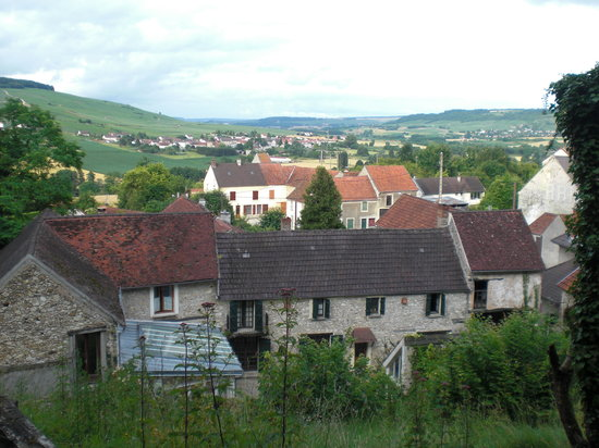 Reuilly-Sauvigny, Francia: Great view from the hill at the B&B