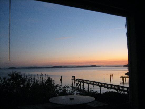 Blackberry Beach Cabins: view from the deck