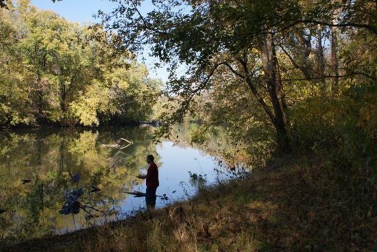 Houchins Ferry Campground: A nice fishing  site along a path from the campground