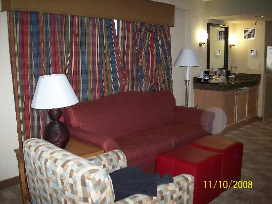 Embassy Suites by Hilton Hotel San Rafael - Marin County / Conference Center: Living area with hanging curtains