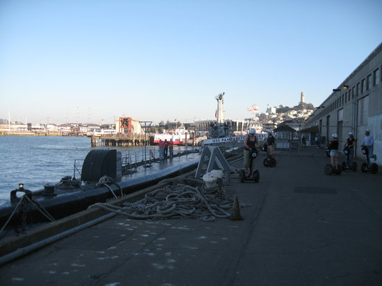 City Segway Tours San Francisco: USS Pampanito Submarine and some in our group to the right.