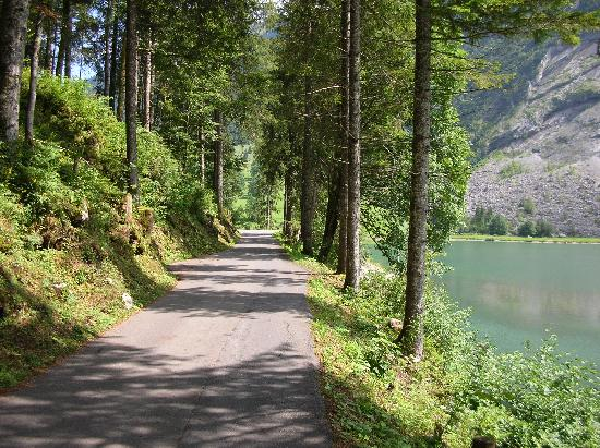 Canton of Glarus, Suiza: Fahrstrasse auf der rechten Seite des Obersees
