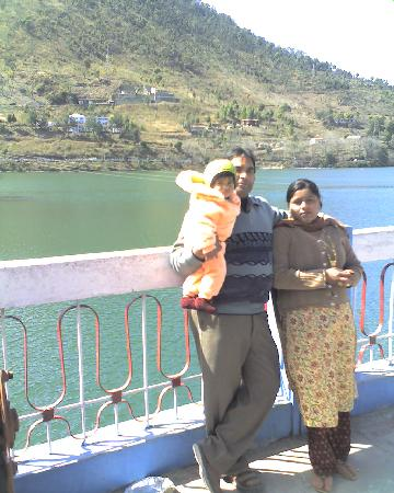 Nainital, Indien: The lake from side