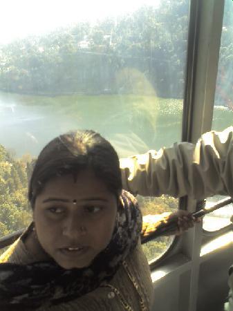 Nainital, Indien: view from rope-way