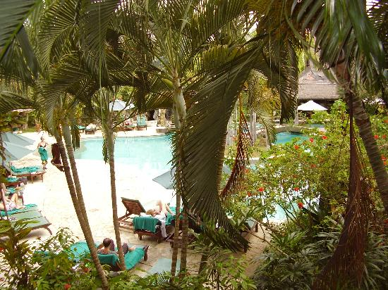Hotel Vila Lumbung: view from the balcony
