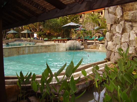 Hotel Vila Lumbung: pool near swim up bar