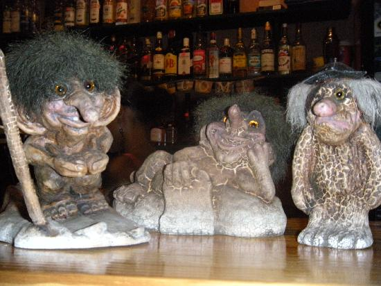 Casa Valeria Boutique Hotel: A few trolls to watch over you during your stay.