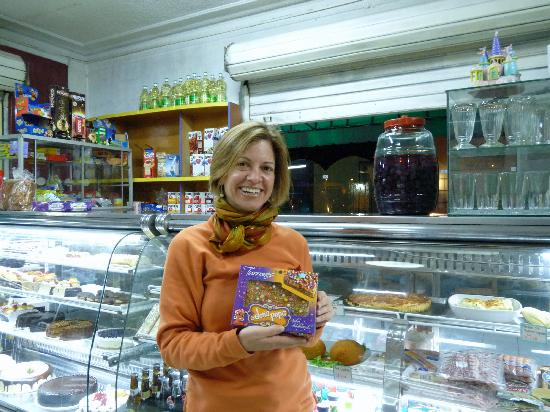 The Angels Inn Backpackers Peru: Here I am at the bakery - 5 mins. walk from the hostel